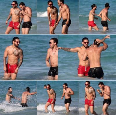 Fotos Virales: Maluma y Prince Royce en la playa y sin camisa