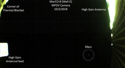 NASA revela fotografía de Marte captada por nanosatélite